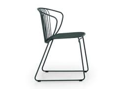Sedia a slitta da giardino in metalloNOT OUT - TRUE DESIGN