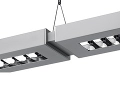 Lampada a sospensione a luce diretta e indiretta in alluminio con dimmer NOTA BENE SYSTEM - Nota Bene