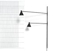Lampada da parete in alluminio verniciato a polvere con dimmerNOTA   Lampada da parete - DE PADOVA