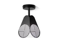 Lampada da soffitto in acciaio e vetroNOTIC | Lampada da soffitto - OBLURE