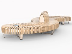 Panca in legno con schienaleNOVA C DOUBLE MIX ONDULAR - GREEN FURNITURE CONCEPT