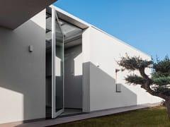 Porta d'ingresso a bilico vetrata in alluminio e vetroNOVA   Porta d'ingresso con serratura elettronica - OIKOS VENEZIA