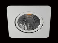 Faretto a LED orientabile in alluminio verniciato a polvere da incasso NOVA -