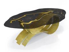 Tavolo ovale in acciaio inox e vetroNOVILUNIO - TECNOTELAI