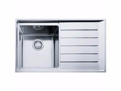 Lavello a una vasca in acciaio inox con sgocciolatoio NPX 611 - Neptune Plus