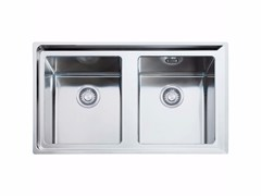 Lavello a 2 vasche in acciaio inox NPX 620 - Neptune Plus