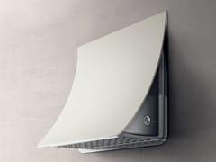 Cappa in acciaio inox a parete con illuminazione integrataNUAGE - ELICA