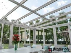 Protezioni, NUBES Fix T-T Tettoia in alluminio per giardini d'inverno