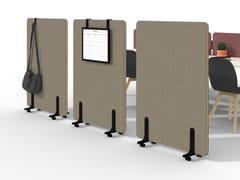 Divisorio ufficio mobile in tessuto su ruoteNUCLEO | Divisorio ufficio su ruote - MARTEX