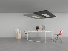 Composizione di pannelli fonoassorbenti sospesi a soffittoNUVOLA | Pannello acustico a sospensione con illuminazione integrata - CARUSO ACOUSTIC BY LAMM