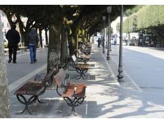 Panchina in legno con schienale NYSSA | Panchina - Nyssa