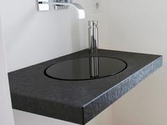 Piano lavabo singolo in granitoPiano lavabo in pietra naturale - BAQUA