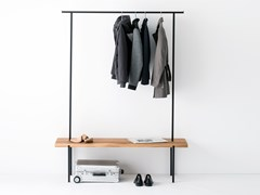 Mobile da ingresso a terra in rovere OAK COAT RACK #01 - WELD & CO