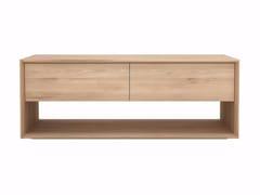 Mobile TV basso in legno massello OAK NORDIC | Mobile TV - Oak Nordic