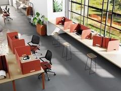 Pannello divisorio da scrivania fonoassorbente in PET riciclatoOASIS FOLD - MANADE