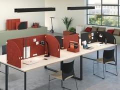 Pannello divisorio da scrivania fonoassorbente in PET riciclatoOASIS WOOD - MANADE