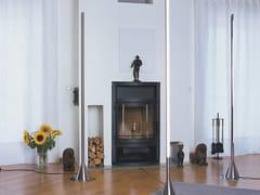 Lampada da terra in ottoneOBELISK - BETEC LICHT