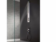 Colonna doccia a parete termostatica in acciaio inox con led OBLIQUA | Colonna doccia a parete - Obliqua