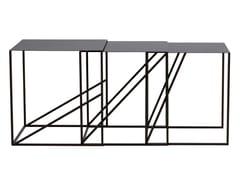 Tavolino impilabile quadrato in metalloOBLIQUE | Tavolino impilabile - ASPLUND