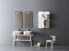 Mobile lavabo doppio con specchioOBLON - SABI - NOVELLO