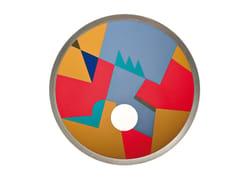 Tappeto rotondo in metallo a motivi geometriciOCEAN - OFFICINE TAMBORRINO