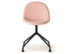Sedia in tessuto con base in metallo e ruoteODILE CHAIR | Sedia con ruote - VERTI