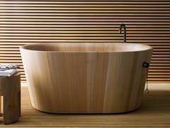 Rapsel, OFURO Vasca da bagno centro stanza ovale in larice