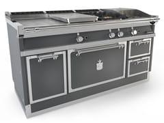 Cucina a libera installazione professionale in acciaioOGS168SP | Cucina a libera installazione - OFFICINE GULLO