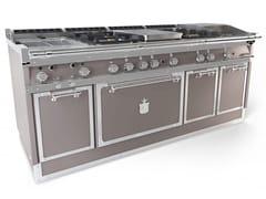 Cucina a libera installazione professionale in acciaio in stile modernoOGS208SP | Cucina a libera installazione - OFFICINE GULLO