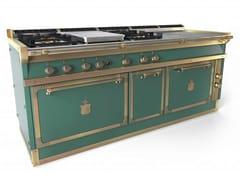 Cucina a libera installazione professionale in acciaioOGS208SPFB | Cucina a libera installazione - OFFICINE GULLO