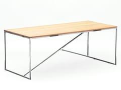 Tavolo da pranzo in acciaio e legnoOIA - MAZANLI