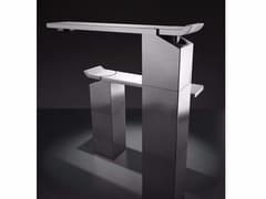 Miscelatore per lavabo da piano monocomando in acciaio inox OKM3 | Miscelatore per lavabo - Okami
