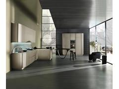 Cucina componibile in stile moderno con maniglie integrate con penisola OLA 20 | Cucina con penisola - ICONE