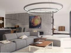 Lampada a sospensione a LED a luce diretta e indiretta in alluminio OLALA COMBO - Olala