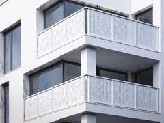 Parapetto in alluminio con pannelli in lamiera microforataOLIMPIA LAMIERA - FARAONE