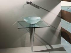 Lavabo rotondo in vetro su colonnaOLIMPIA - RAPSEL INTERNATIONAL