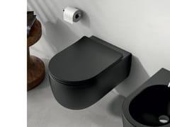 Wc sospeso in ceramicaOLYMPIA CERAMICA - MILADY BLACK - ARCHIPRODUCTS.COM
