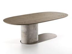 Tavolo ovale in legnoOMBRA - NATUZZI