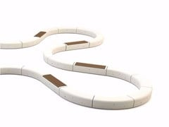 Panchina curva modulare senza schienaleONDA | Panchina curva - BELLITALIA