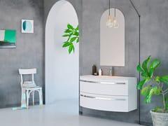 Mobile lavabo sospeso in legno con cassettiONDA ON02 - ARTEBA