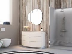 Mobile lavabo da terra singolo in rovere con cassettiONDA ON04 - ARTEBA