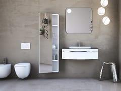 Mobile lavabo in legno in stile moderno con cassetti con specchioONDA ON05 - ARTEBA