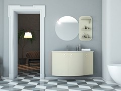 Mobile lavabo in legno in stile moderno con ante con specchioONDA ON06 - ARTEBA
