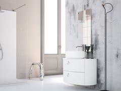 Mobile lavabo sospeso in legno con cassettiONDA ON07 - ARTEBA