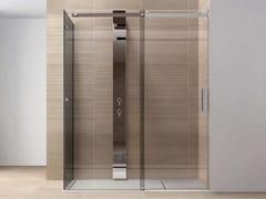 DISENIA, OOPS PS2F Box doccia con porta scorrevole con doppio fisso ad angolo
