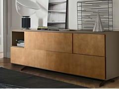 Madia laccata in legno in stile moderno con ante scorrevoli OPEN | Madia con ante scorrevoli - Open