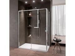 NOVELLINI, OPERA 2P Box doccia angolare con porta scorrevole