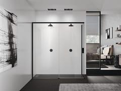 Box doccia a due posti angolare con porta scorrevole OPERA 2PH+FH - Opera