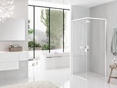 Box doccia angolare con porta scorrevoleOPERA | A - NOVELLINI