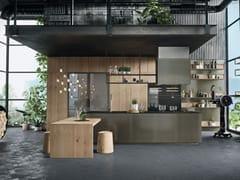 Cucina con isola senza maniglie OPERA | Cucina senza maniglie - SISTEMA